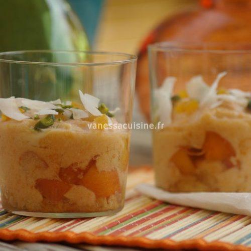 recette de Tiramisu abricots lait de coco
