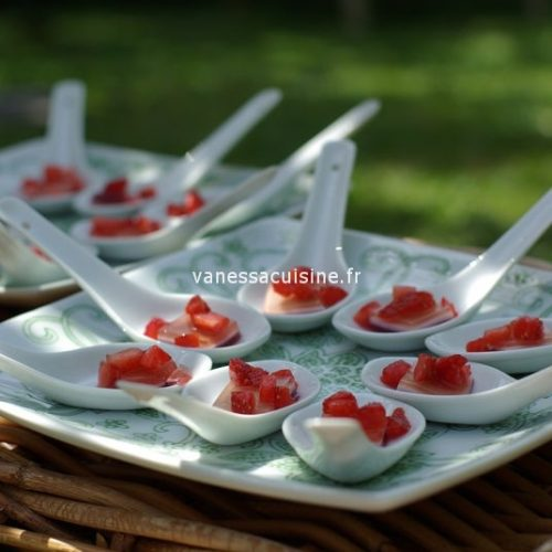 recette de Carpaccio de gelées de fruits et tartare de fraises
