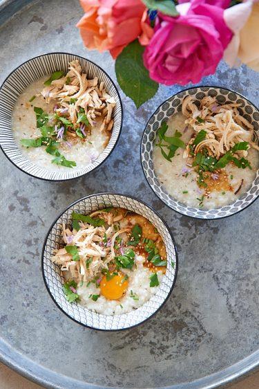 recette de Congee au poulet