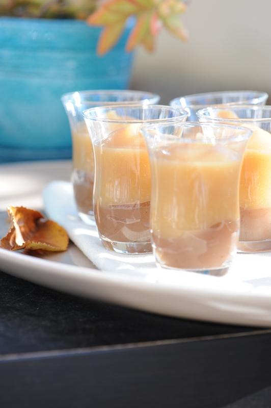 photo culinaire de Verrine de crème de marron et compote de pomme