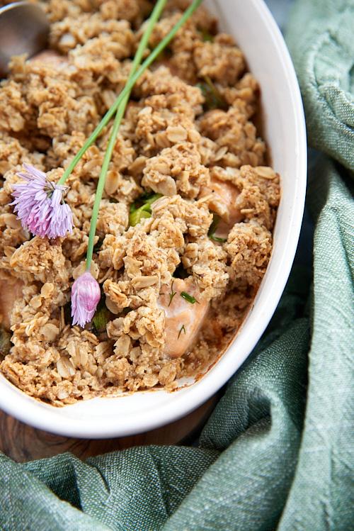 photo de Crumble de saumon aux flocons d'avoine