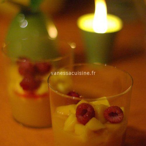 recette de Gelée de mangue et brunoise de fruits