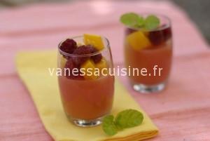 recette de Gelée de goyave à la framboise et à la mangue