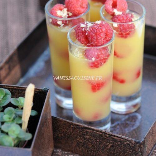 recette de Gelée orange-passion et framboises fraîches