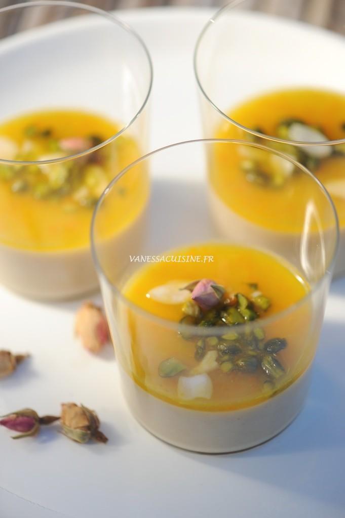recette de mouhalabieh à la fleur d'oranger et à la rose