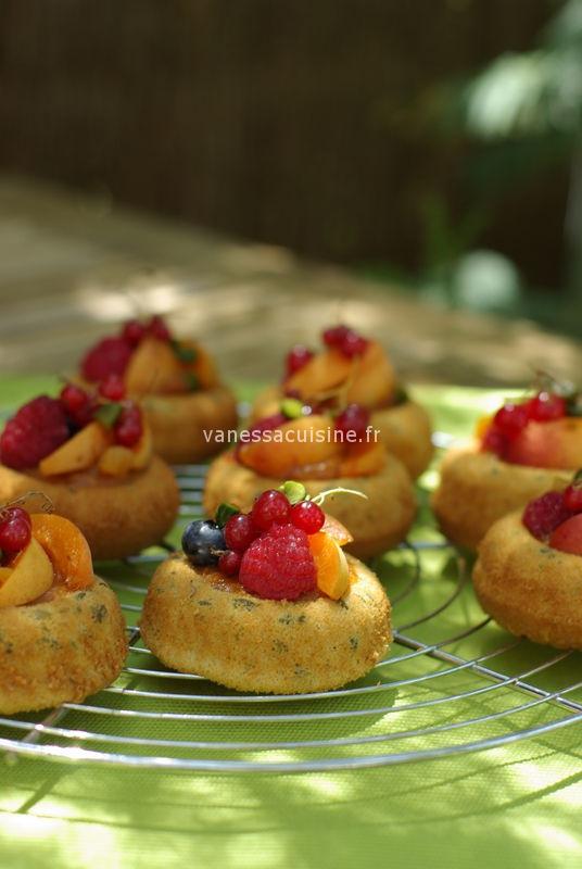 photo culinaire de Pain de Gênes et fruits d'été