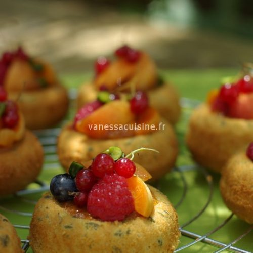 recette de Pain de Gênes et fruits d'été