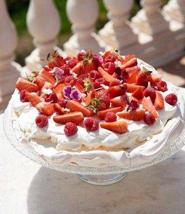 recette de Pavlova aux fraises