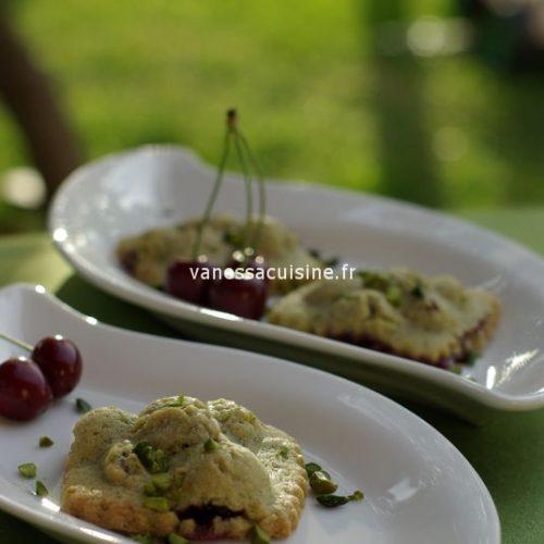 recette de Petites tourtes pistache cerise