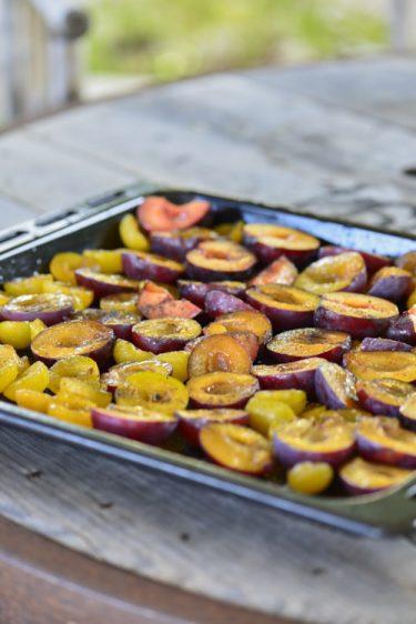 recette de Prunes rôties aux épices
