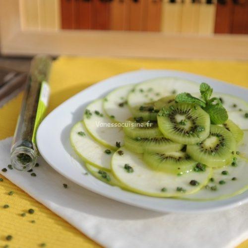 recette de Salade de granny smith et kiwi à la menthe