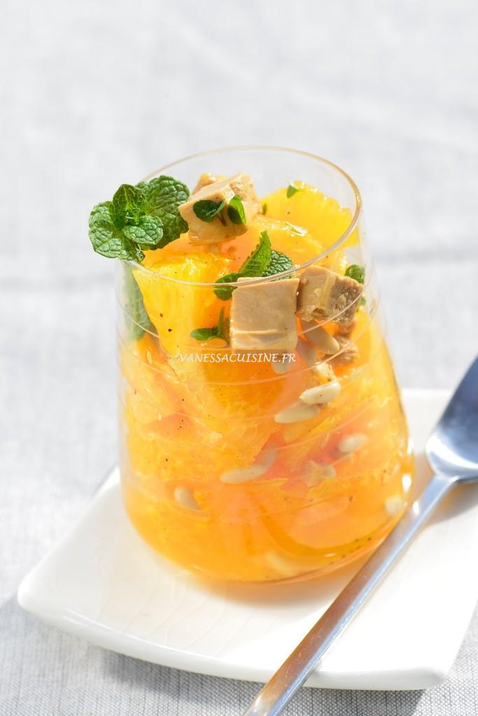 recette de Salade d'orange aux pignons et au turron