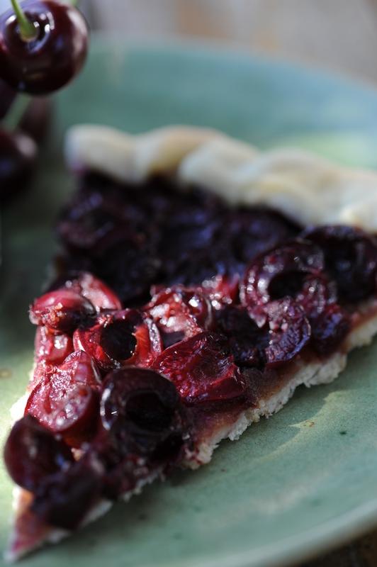 photo culinaire de tarte à la cerise