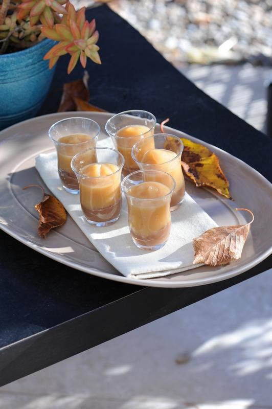 recette de Verrine de crème de marron et compote de pomme