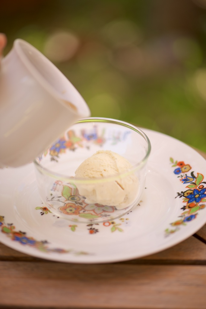 photo de glace à la vanille