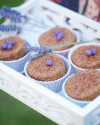 recette de cakes à la lavande et aux amandes