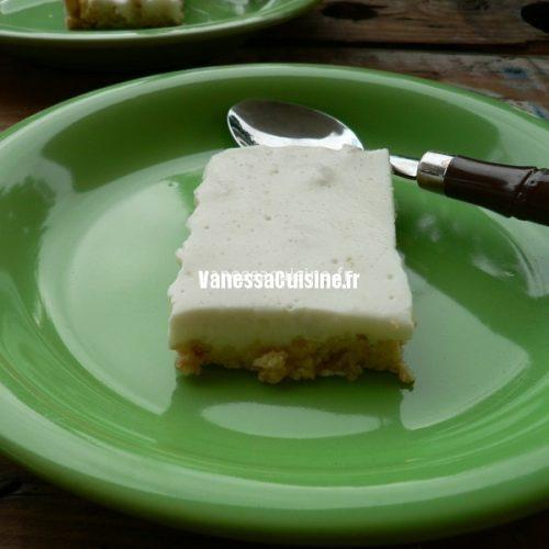 recette de Carrés de cheesecake au citron