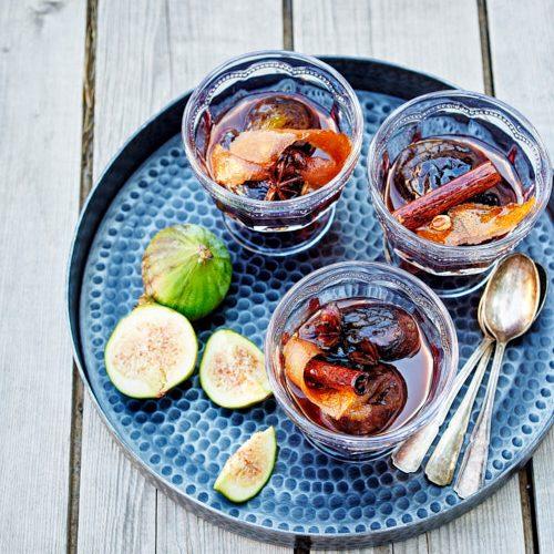 recette de figues au Porto et aux épices