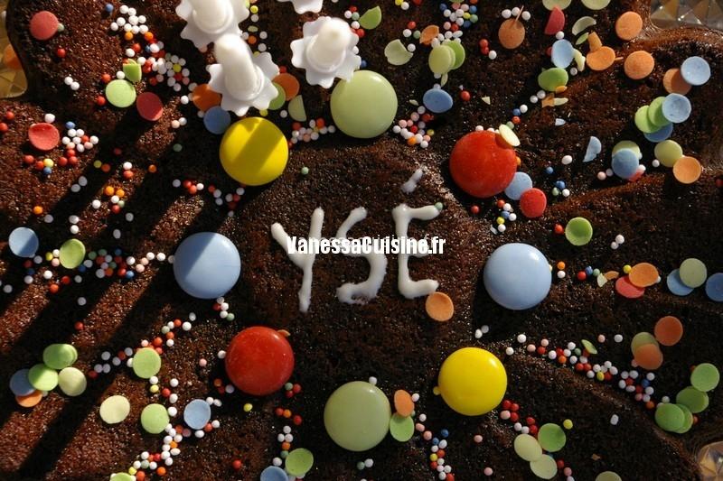 photo culinaire de Gâteau d'anniversaire au chocolat d'Ysé