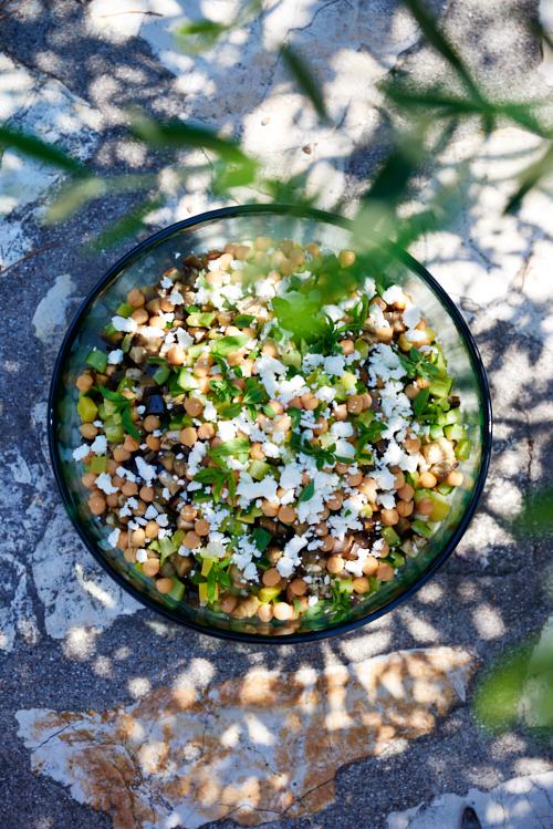 photo culinaire de Salade de quinoa et courgettes