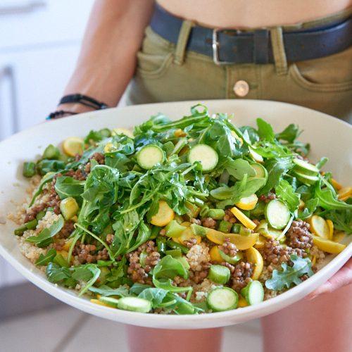 recette de Salade de quinoa et lentilles aux courgettes