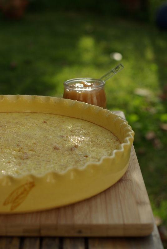 recette de Tarte au fromage blanc et miel