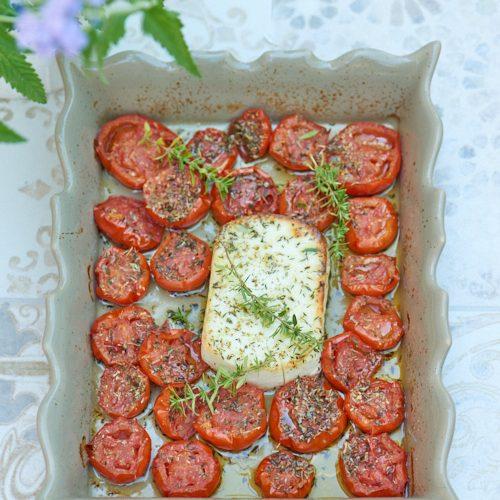 recette de Feta et tomates au four