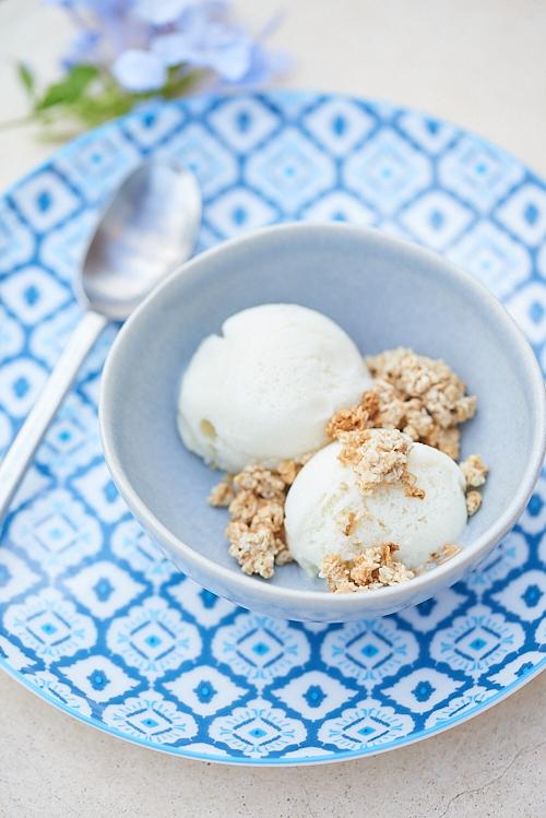 photo culinaire de Glace au lait de brebis