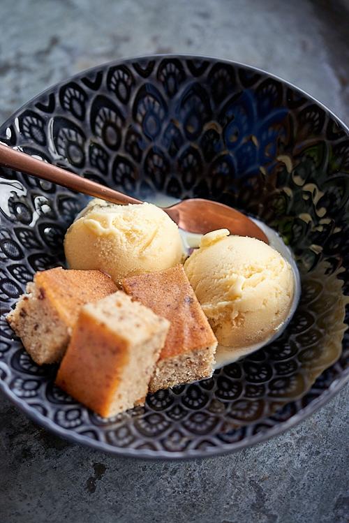 photo culinaire de Glace à la vanille