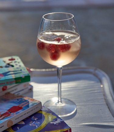 photo culinaire de Spritzer rosé framboise