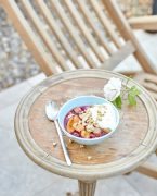 recette de Compote prune rhubarbe