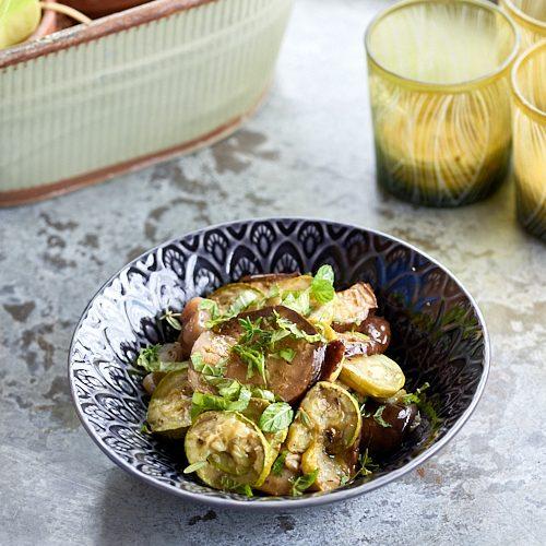 recette de salade d'aubergine à la menthe