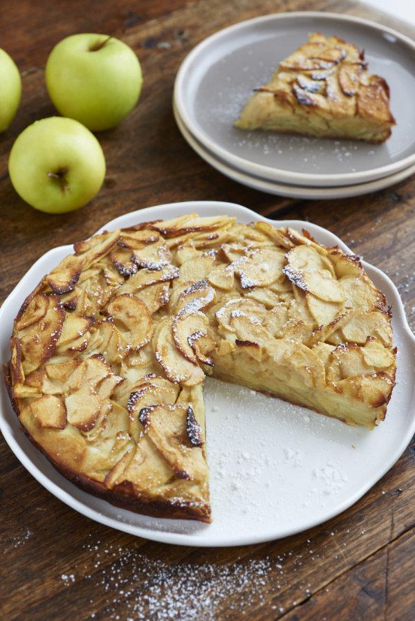 recette de Gâteau aux pommes et lait d'amande