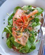 tartine saumon fume